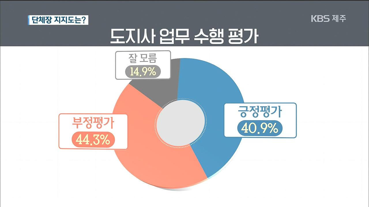 <여론조사>④단체장 지지도는?