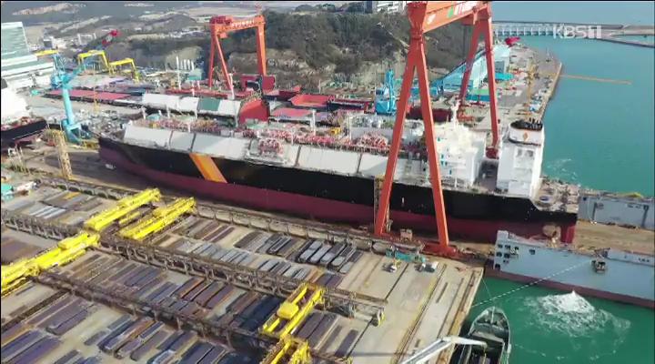 3만 톤급 선박 육상운송..세계 신기록