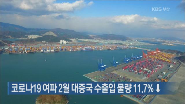 코로나19 여파 2월 대중국 수출입물량 11.7%↓