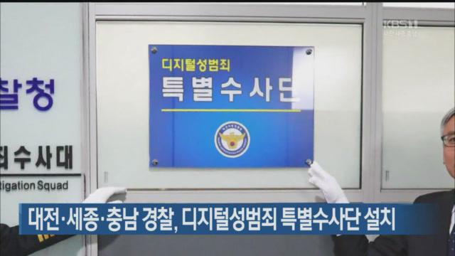 대전·세종·충남 경찰, 디지털 성범죄 특별수사단 설치
