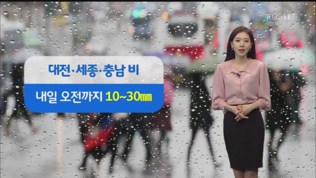 [날씨] 충남 내일 오전까지 비…서해안 '강풍 특보'