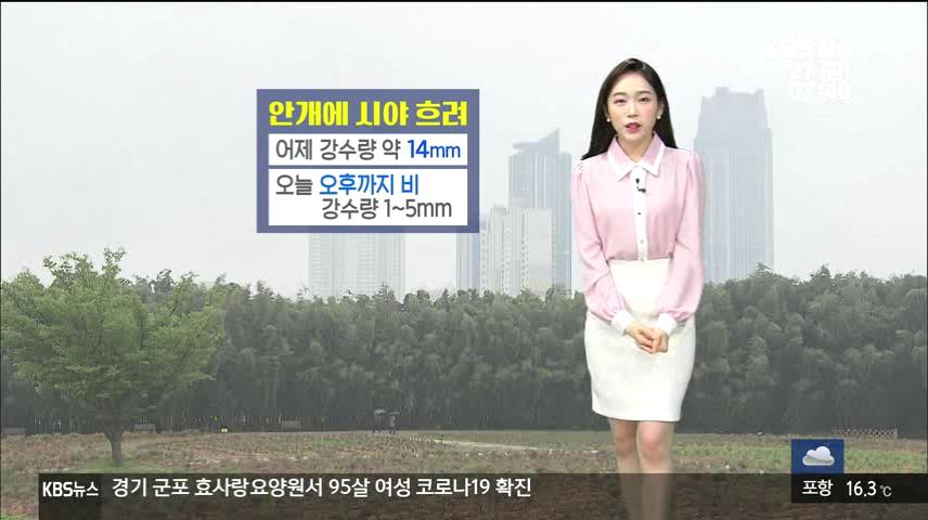 [날씨] 울산 오늘 오후까지 '비'…미세먼지 '좋음'