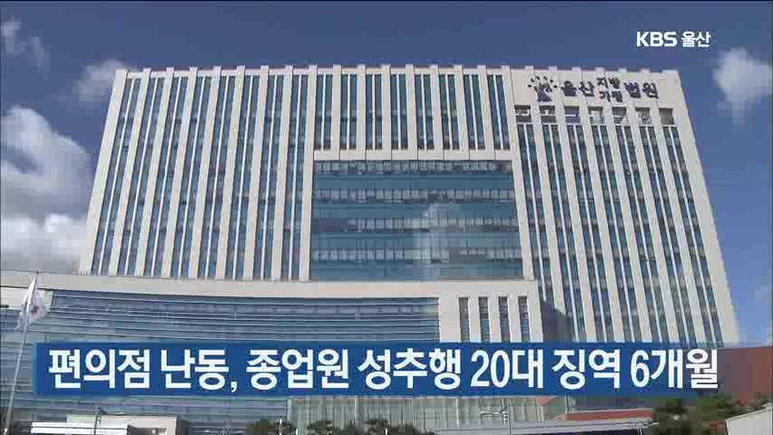 편의점 난동, 종업원 성추행 20대 징역 6개월