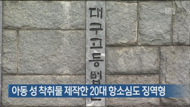 아동 성 착취물 제작한 20대 항소심도 징역형