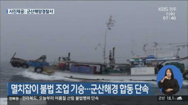 멸치잡이 불법 조업 기승…군산해경 합동 단속