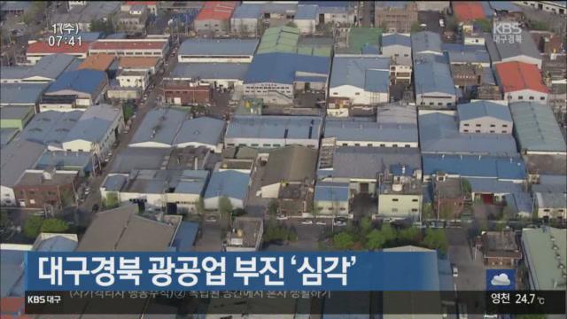 대구경북 광공업 부진 '심각'