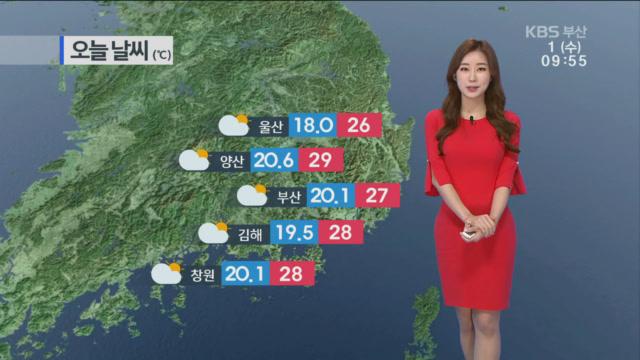 [날씨] 부산 오후 구름 많음…낮 기온 27도