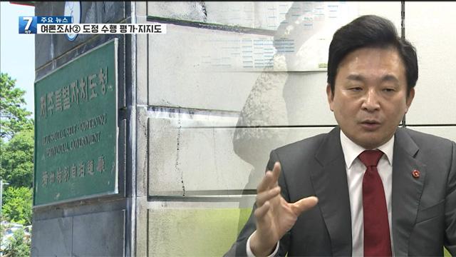 [여론조사]② 도정 부정 평가↑…지지율도 하락